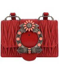 ced6d979506 Miu Miu - Madras Miu Lady Shoulder Bag Calf Leather Fuoco - Lyst