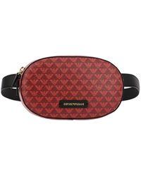 Emporio Armani Logo Print Belt Bag - Red