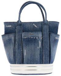 db2e82fa31 Hogan Leather Satchel Bag W/shoulder Strap in Black - Lyst