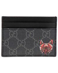 0dd99337291c Gucci Embossed Leather Billfold Wallet in Black for Men - Lyst