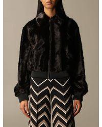 Twin Set Fur Coats - Black
