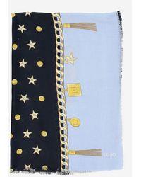 Liu Jo Star Pattern Scarf - Blue