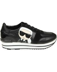 Karl Lagerfeld - Velocita Ii Leather/suede Karl Ikonic Meteor Lace Runner Trainers - Lyst