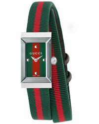 Gucci G-Frame Uhr, 14x25mm - Grün