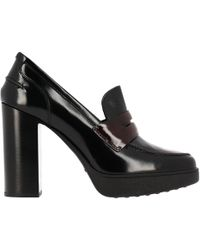 Tod's - Two-tone Glossed-leather Court Shoes - Lyst