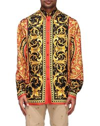 Versace Multicolour Silk Barocco Shirt