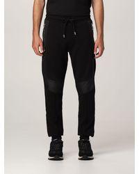 Les Hommes Pantalone jogging con logo - Nero