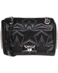 Jimmy Choo Helia Small Bag In Quilted Nappa Leather With Studs - Black