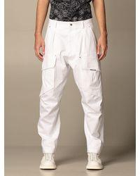 Les Hommes Pantaloncino con tasche a toppe - Multicolore