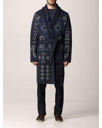 Etro - Cappotto a vestaglia in lana - Lyst