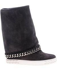 Casadei - Flat Booties Shoes Women - Lyst