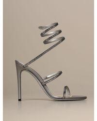 Rene Caovilla Heeled Sandals - Metallic