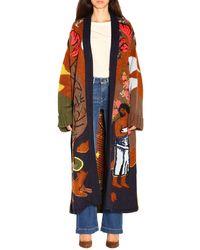 Stella Jean Scenic Knit Long-lined Cardigan - Multicolor