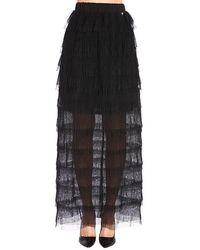 Twin Set - Tiered Maxi Skirt - Lyst