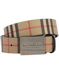 Burberry Men's Belt - Natural