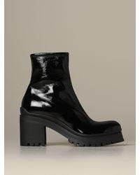 Miu Miu Flat Booties - Black