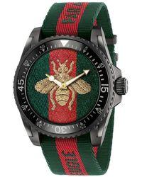 Gucci Dive Uhr 45mm - Grün