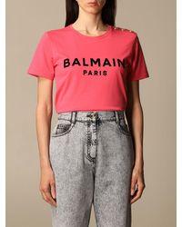 Balmain T-shirt - Pink