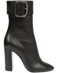 Saint Laurent - Flat Booties Boots Women - Lyst