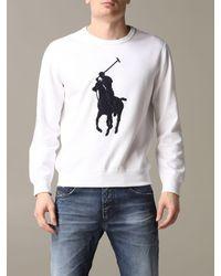 Polo Ralph Lauren Logo Appliqué Sweatshirt - White