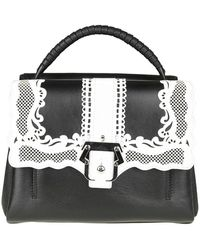 d4bd0539373 Lyst - Giambattista Valli Treated Chain Shoulder Bag in Black