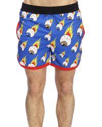 27922a6af8 Ferragamo Rooster Print Swim Shorts in Blue for Men - Lyst