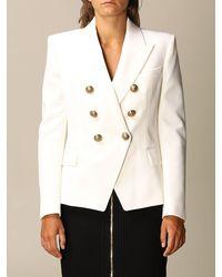 Balmain Tweed Blazer - White