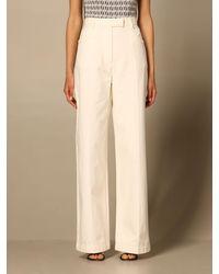 Fendi Trousers - Natural