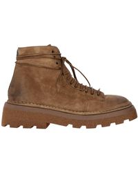 Marsèll Pedula Dentolone Boots In Suede With Rubber Sole - Brown