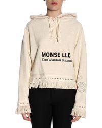 Monse Print Towel Hoodie - White