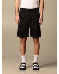 Low Brand Pantaloncino con tasche a filo - Nero