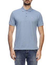 b9676df22 Burberry Burnton Rainbow Logo Polo Shirt in Blue for Men - Lyst