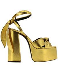 Saint Laurent Heeled Sandals Women - Metallic