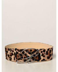 Blumarine Cintura con maxi fibbia - Nero