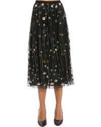 RED Valentino - Floral Print Skirt - Lyst