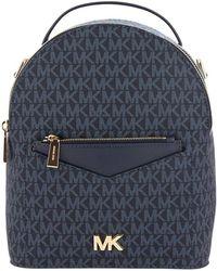 MICHAEL Michael Kors - Michael Kors Blue Jessa Small Leather Cross Body Backpack - Lyst