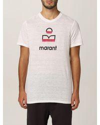 Étoile Isabel Marant Tshirt in lino con logo - Multicolore