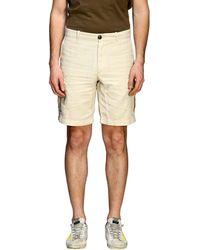 Eleventy - Kargo Bermuda Shorts In Cotton And Linen - Lyst