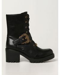 Versace Jeans Couture Botines planos - Negro