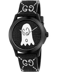 Gucci - G-timeless Rubber Watch Case 38 Mm With Monogram And Ghost - Lyst