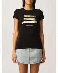 Armani Exchange Camiseta - Negro