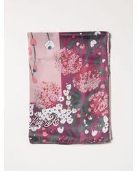Liu Jo Foulard con motivo floreale - Rosa
