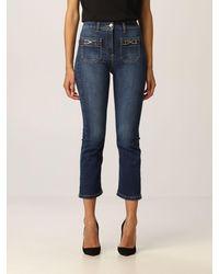 Elisabetta Franchi Jeans in di cotone stretch - Blu