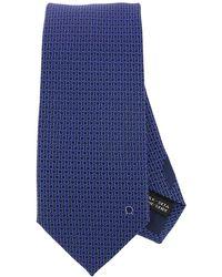 Ferragamo - With All-over Mediterranean Double Hook Pattern Tie In Pure Silk 8 Cm - Lyst