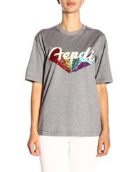 fd296d00 Fendi T-shirt Women in Black - Lyst
