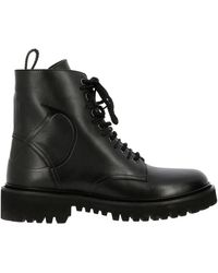 Valentino - Vlogo Boots In Leather With Rubber Sole - Lyst