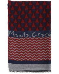Manila Grace Women's Scarf - Red