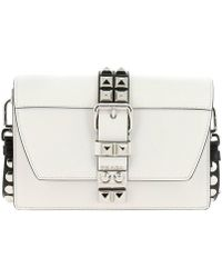 bce42dd6f929 Prada - Elektra Small Bag In Genuine Saffiano Leather And Smooth Leather  With Metal Studs -