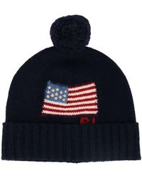 Polo Ralph Lauren Hat With Maxi Flag And Pompon - Blue