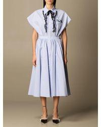 Miu Miu Vestido - Azul